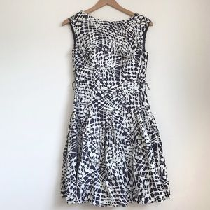 Shoshanna Blue & White Abstract Patterned Dress